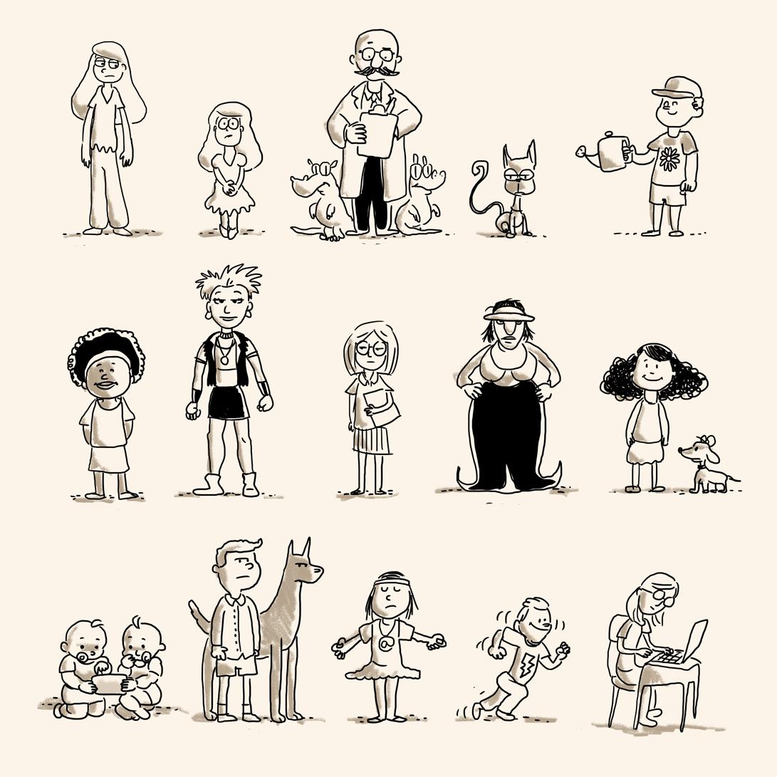criacao de personagens, concept art